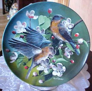 1986 The Blue Bird by Kevin Daniel Knowles Collector Plate