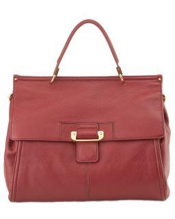 Kooba Aiden Red Leather Satchel