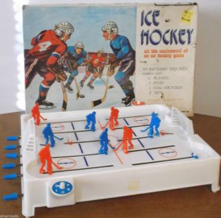 1970s Small Plastic TABLE TOP ICE HOCKEY GAME Toy Kresge Co Troy MI