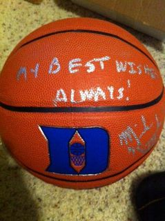 Mike Krzyzewski Coach K Signed Duke Blue Devils Basketball Insc COA