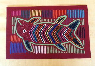 Kuna Indian Mola Folk Art Reverse Applique Panama San Blas Islands