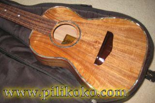 Koa Pili Koko Ukulele Deluxe Tenor Solid Acacia Wood
