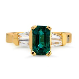 Gorgeous Natural 2 19 Ct Octagon Emerald Diamond Ring 18K