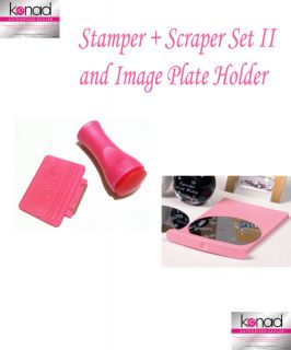 Konad Nail Art Stamper Scraper and Image Plate Holder