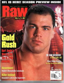 WWE Raw Magazine February 2001 Kurt Angle Gold Rush WWF
