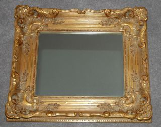 Vintage LaBarge La Barge Ornate Burnished Gild Mirror Floral