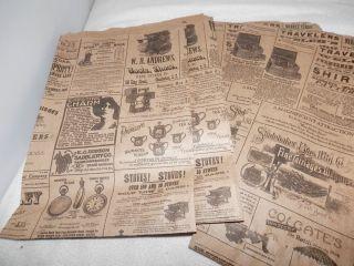 Print Paper Kraft Bags Vintage Style Newsprint Favor Craft Bags