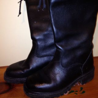 Bean Black Motorcycle Winter Boots