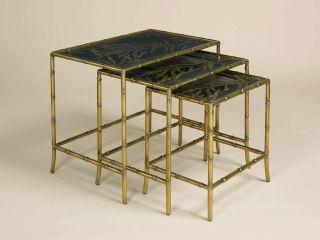 La Barge Set of Three Antique Finished Nesting Tables LT8484