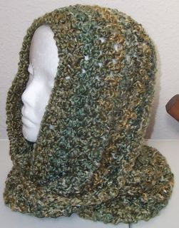Hand Crocheted Infinity Eternity Scarf Meadow Lion Homespun Yarn