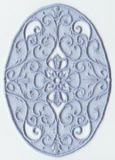 Victorian Oval Lace U Choose Thread Color 2 Embroidered Hand Towels by