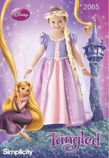 Simplicity 2065 Girls Disney Princess Tangled Rapunzel Costume Pattern