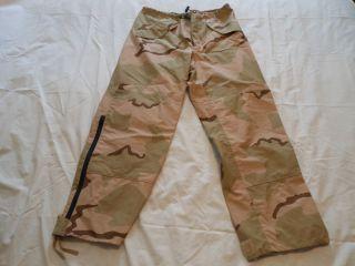 BDU Desert Camo Pants Medium Long Gortex Gore Tex Army