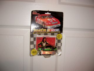 42 Kyle Petty 1992 Mello Yellow Pontiac 1 64 Car with Collectors Card