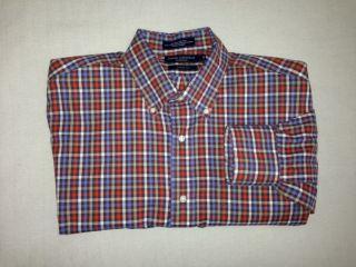 Daniel Cremieux Mens L Classic Fit Long Sleeve Shirt Excellent