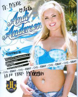 Andi Anderson Sexy Color 8x11 Promo Shee