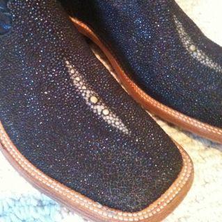 Lagrange Stingray Leather Cowboy Boots Ladies 9M