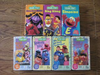 Sesame Street Songs Sing Along Elmocize Elmo says Boo Sony Wonder GUC