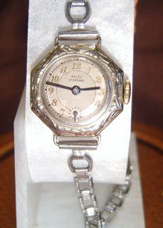 Ladies Vintage Rolex Watch 18K White Gold 1930S