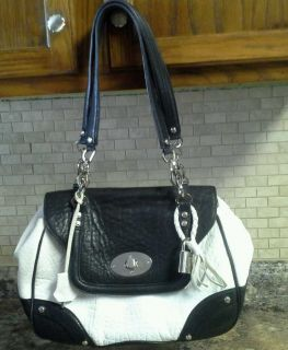 La Gioe di Toscana handbag ladies designer purse black & white Huge