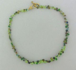 Robin Rotenier 18K Yellow Gold Multi Color Gemstone Briolette Necklace