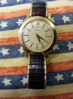 Hamilton 500 10KT Gold Filled Men Wrist Watch