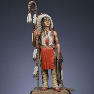LAKOTA Sioux Warrior 1860 1870 Metal Modeles Kit