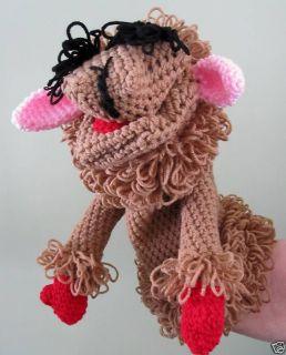 Handmade Crochet Lamb Chop Hand Puppet Toy