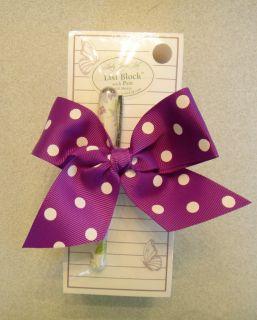 Lady Jayne Butterfly List Block note pad w coordinating Rollerball Pen