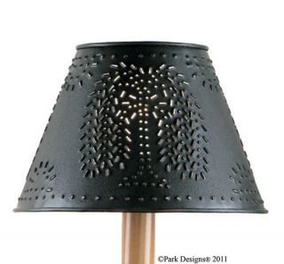 Lamp Shade Lamps Punched Metal Round Willow in Black 10 Diametter