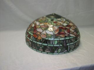 Stained Glass Floral Style Lamp Shade 18 Wide