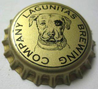 Lagunitas Brewing Company Gold Beer Crown Magnet Bottle Cap w Dog