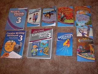 Abeka 3rd Grade Language Arts Currirculum Student Books