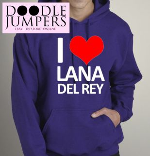 Love Heart Lana Del Rey Tour Hoodie Hoody Girls UK Seller