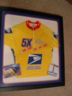 Lance Armstrong Tour de France Signed Jersey Professionally Framed