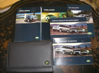 2004 Land Rover Freelander Owners Manual Set