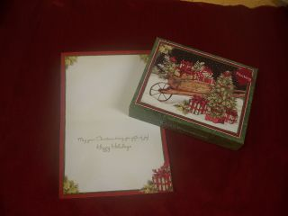 Embellished LANG Boxed Christmas Cards CHRISTMAS DELIVERY by Susan