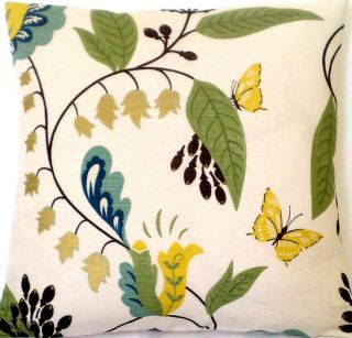 Pillow Cover Osborne Little Fabric Langdale Yellow Butterfly Botanical