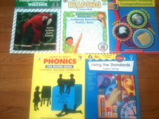 Language Arts, Math Grade 2 Teaching Resource Books lot of 5