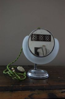 Art Deco Vanity Shaving Makeup Cloud Mirror by Lapeer