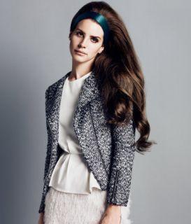 Lana Del Rey Boucle Metallic Tweed Blazer Jacket Coat US 6 US 8