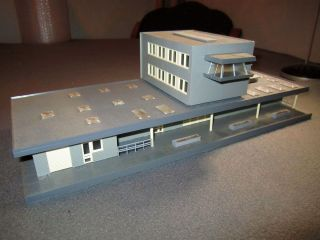 Large HO Scale Modern Shipping and Office Building for Model Railroad