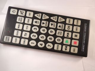 Jumbo Universal Large Button Huge Remote Control