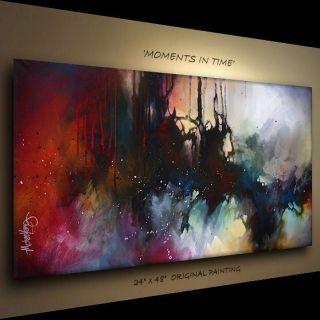 ART ABSTRACT MODERN Contemporary DECOR Michael Lang certified original
