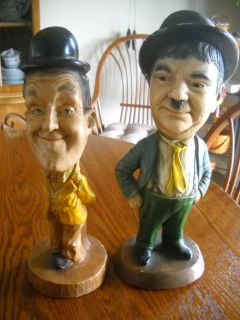 1971 ESCO LAUREL AND HARDY CHALKWARE STATUES LARRY HARMON Item 0113 56
