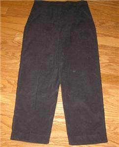 Womens Larry Levine Sport Brown Stretch Pants Size 14