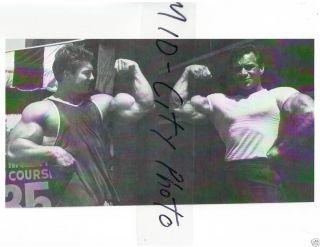 Larry Scott + Freddy Ortiz Vinces Gym Bodybuilding Photo B&W