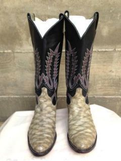 LARRY MAHAN Vtg Exotic Anteater Western Cowboy Boots Mens Size 9 1 2 D