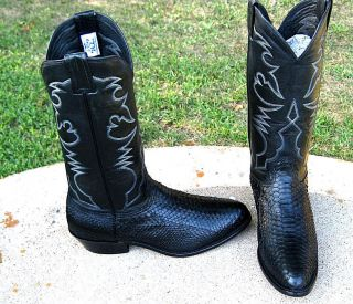 New Larry Mahan Exotic Snake Cowboy Boots Mens 9E