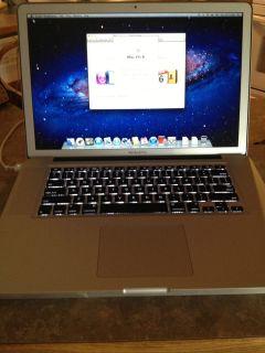 Apple MacBook Pro 15 4 Laptop MB985LL A June 2009 6 Gig RAM
